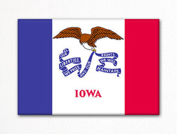Iowa State Flag Fridge Magnet