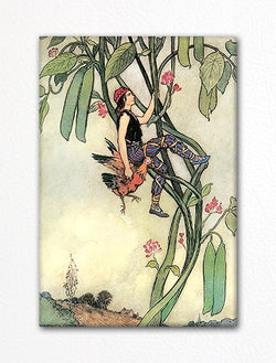 Jack and the Bean Stalk Warwick Goble Fridge Magnet