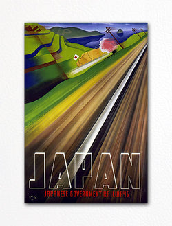 Japanese Government Railways Poster Fridge Magnet