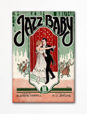 Jazz Baby Sheet Music Cover Fridge Magnet