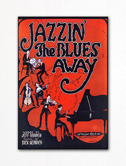Jazzin' the Blues Away Sheet Music Cover Fridge Magnet