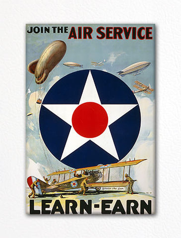 Join the Air Service Recruiting Poster Fridge Magnet