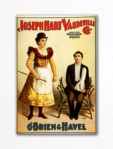 Joseph Hart Vaudeville Advertising Poster Fridge Magnet