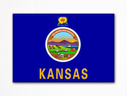 Kansas State Flag Fridge Magnet