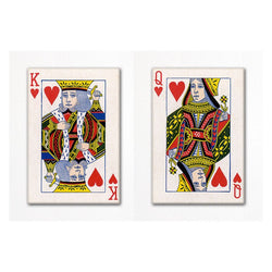 King and Queen of Hearts Fridge Magnet Set