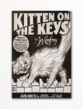 Kitten on the Keys Sheet Music Cover Fridge Magnet