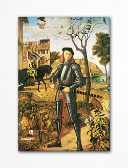 Young Knight in a Landscape by Vittore Carpaccio Fridge Magnet