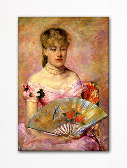 Lady With a Fan Mary Cassatt Fridge Magnet