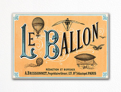 Le Balloon Fridge Magnet