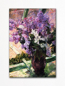 Lilacs in a Window Mary Cassatt Fridge Magnet