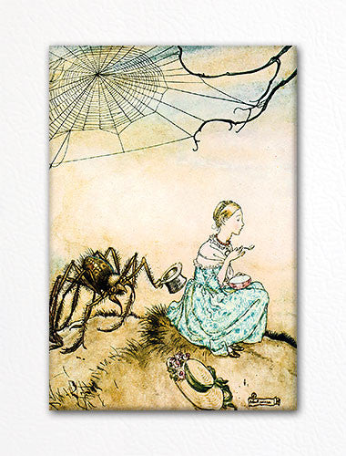 Little Miss Muffett Arthur Rackham Illustration Fridge Magnet