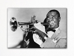 Louis Armstrong with Trumpet Fridge Magnet