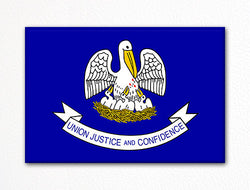 Louisiana State Flag Fridge Magnet