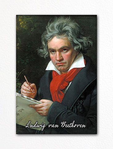 Ludwig van Beethoven Portrait Fridge Magnet