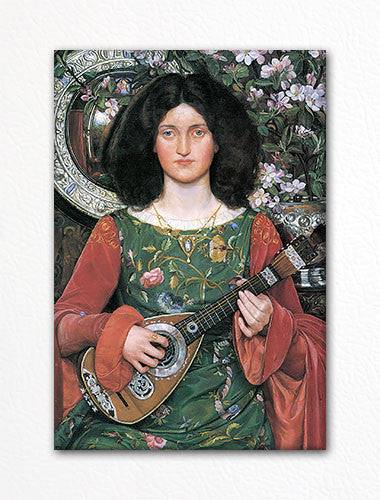 Renaissance Lute Player Painting Fridge Magnet