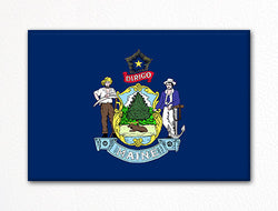 Maine State Flag Fridge Magnet