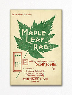 Maple Leaf Rag Sheet Music Cover Fridge Magnet