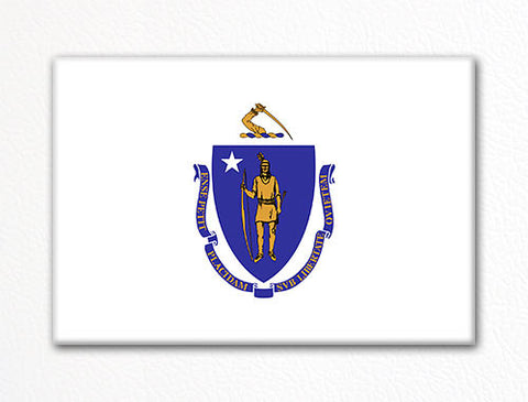 Massachusetts State Flag Fridge Magnet