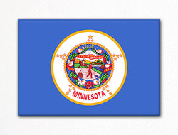 Minnesota State Flag Fridge Magnet