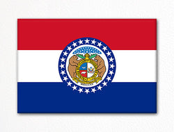 Missouri State Flag Fridge Magnet