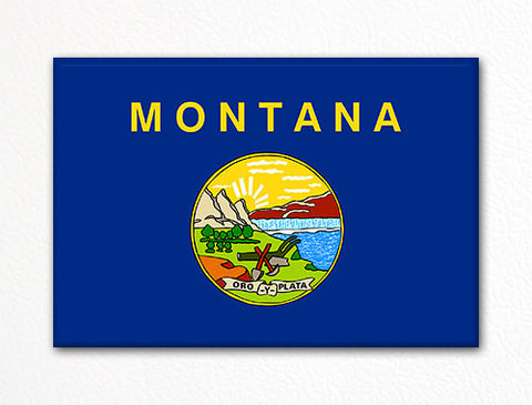 Montana State Flag Fridge Magnet