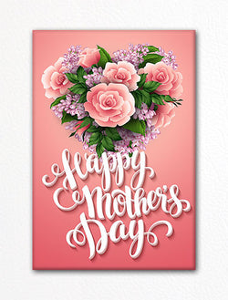 Happy Mother's Day Flower Heart Fridge Magnet