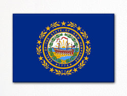 New Hampshire State Flag Fridge Magnet