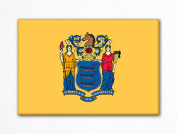 New Jersey State Flag Fridge Magnet