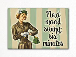 Next Mood Swing Six Minutes Fridge Magnet