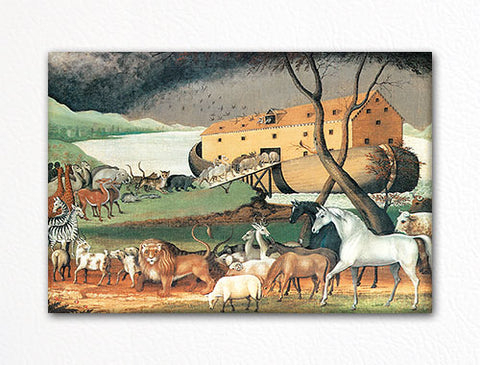 Noah's Ark Edward Hicks Painting Fridge Magnet