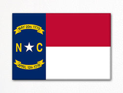 North Carolina State Flag Fridge Magnet