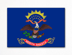 North Dakota State Flag Fridge Magnet