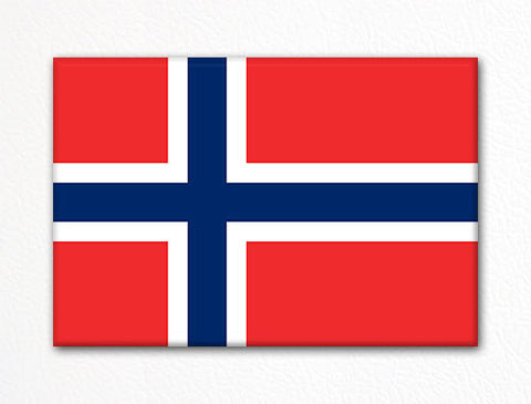 Flag of Norway Norwegian Flag Fridge Magnet