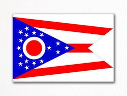Ohio State Flag Fridge Magnet