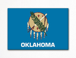 Oklahoma State Flag Fridge Magnet
