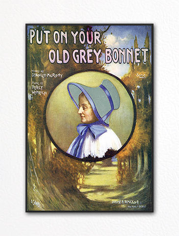 Put On Your Old Grey Bonnet Sheet Music Cover Fridge Magnet
