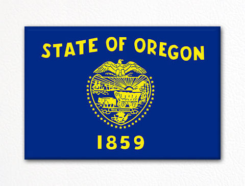 Oregon State Flag Fridge Magnet
