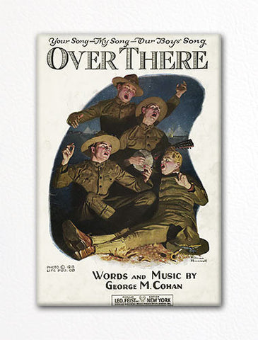 Over There Sheet Music Cover Fridge Magnet