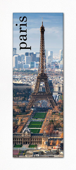 Paris France Eiffel Tower Souvenir Panoramic Refrigerator Magnet