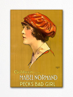 Peck's Bad Girl Mabel Normand Movie Advertisement Fridge Magnet