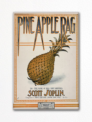 Pine Apple Rag Sheet Music Cover Fridge Magnet