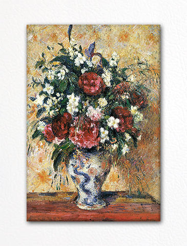Vase of Flowers Camille Pissarro Fridge Magnet