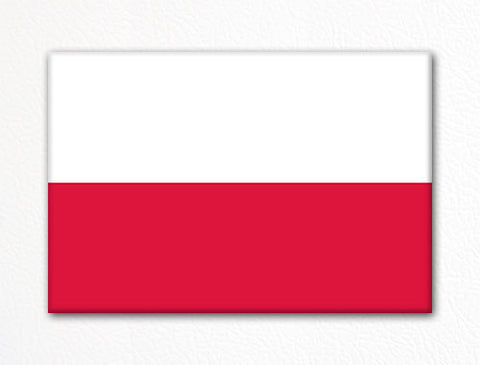 Flag of Poland Polish Flag Fridge Magnet