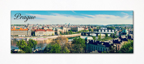 "Prague Czech Republic Souvenir 4.5""x1.5"" Panoramic Refrigerator Magnet"