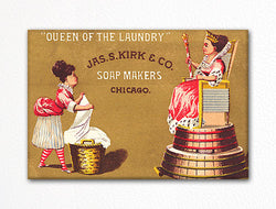Jas. S. Kirk Laundry Soap Advertisement Fridge Magnet