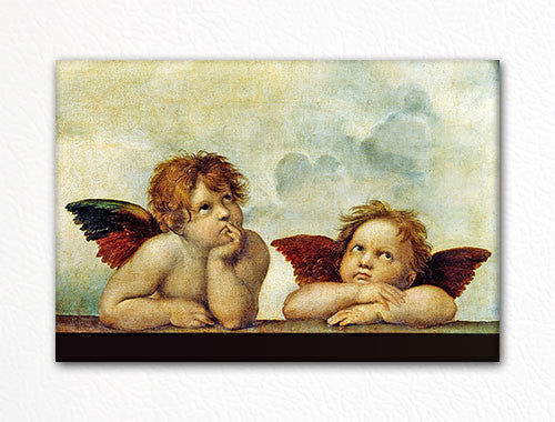 Raphael's Sistine Madonna Daydreaming Angels Fridge Magnet