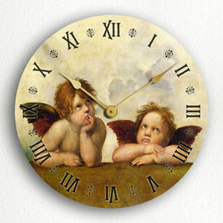 "Raphael's Sistine Madonna Daydreaming Angels 12"" Silent Wall Clock"