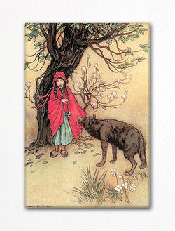 Little Red Riding Hood Warwick Goble Fridge Magnet