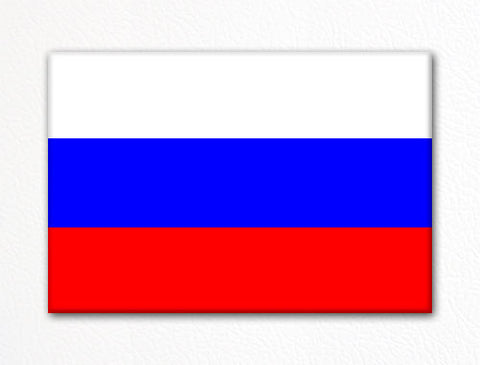Flag of Russia Russian Flag Fridge Magnet