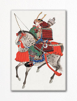Samurai on Horseback Fridge Magnet
